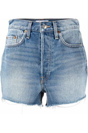 RE/DONE Pantalones vaqueros cortos de talle alto