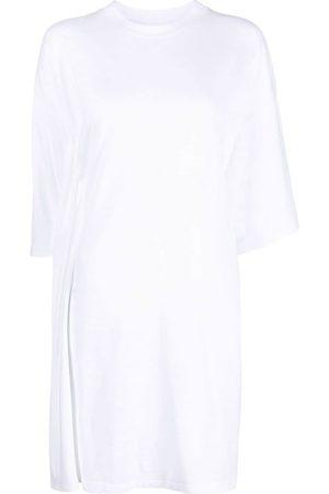 MM6 MAISON MARGIELA Vestido estilo camiseta drapeado y asimétrico