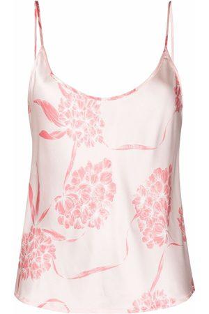 La Perla Top de seda estilo camisola con estampado floral