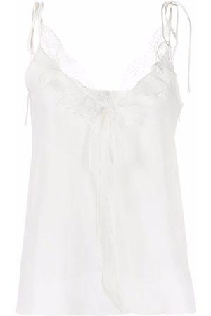Alexander McQueen Mujer Camisolas - Camisola con ribete de encaje