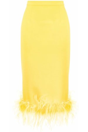 Styland Feather-trim skirt