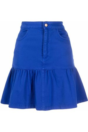 See by Chloé Gathered-detail high-waisted skirt