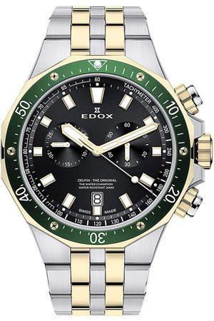Edox Reloj analógico 10109-357JVM-NID, Quartz, 43mm, 20ATM para hombre