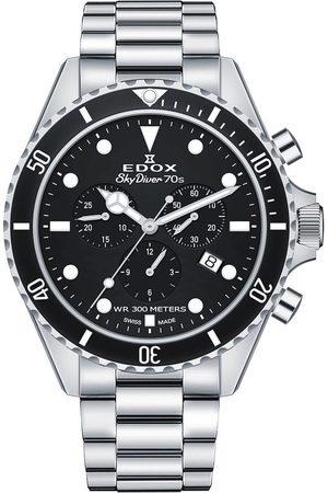 Edox Reloj analógico 10238-3NM-NI, Quartz, 44mm, 30ATM para hombre