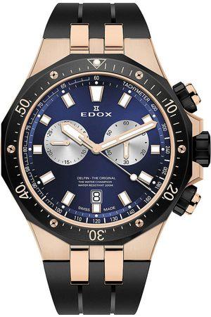 Edox Hombre Relojes - Reloj analógico 10109-357RNCA-BUIRA, Quartz, 43mm, 20ATM para hombre