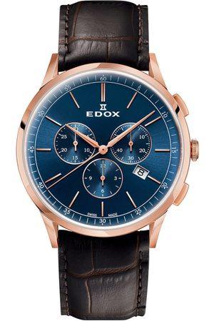 Edox Reloj analógico 10236-37RC-BUIR, Quartz, 42mm, 3ATM para hombre