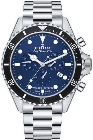 Edox Reloj analógico 10238-3NM-BUI, Quartz, 44mm, 30ATM para hombre