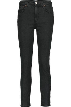 AGOLDE Jeans ajustados Toni de talle medio