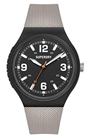 Superdry Hombre Relojes - Reloj Analógico para Hombre de Cuarzo con Correa en Silicona SYG345E