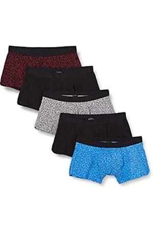 FIND Hombre Calzoncillos y Boxers - Calzoncillo Bajo de Algodón Hombre, Pack de 5, Multicoloured (Blk/Blue/Grey Floral), XL