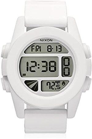 Nixon Reloj Digital para Hombre de Cuarzo con Correa en plástico A197-100_White