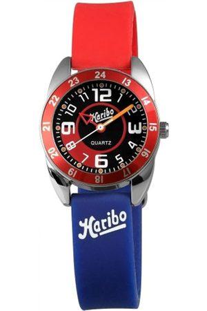 Haribo HA3867-RD-BL3 - Reloj analógico de Cuarzo Unisex con Correa de Silicona