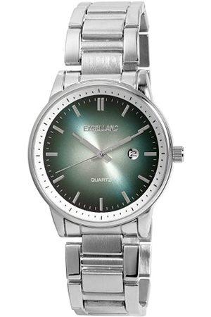 Excellanc 284023000056 - Reloj analógico de caballero de cuarzo con correa de aleación plateada