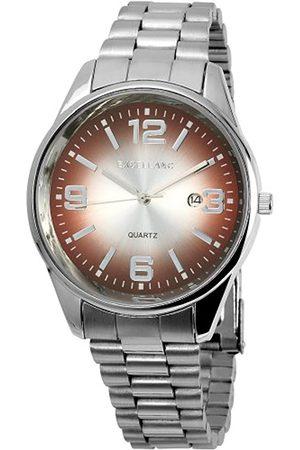 Excellanc 284027000054 - Reloj analógico de caballero de cuarzo con correa de aleación plateada