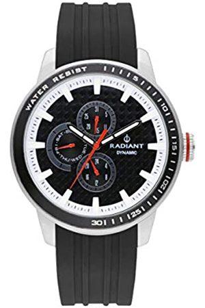 Radiant Reloj analógico para Hombre de . Colección Dax. Reloj Plateado con Esfera Negra y Correa de Silicona a Tono. 5ATM. 47mm. Referencia RA494702.
