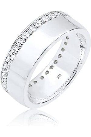Elli Anillos Damas con cristales que brillan en plata esterlina 925