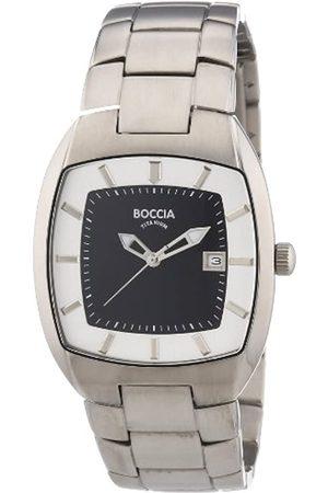 Boccia Hombre Relojes - 3522-04 - Reloj analógico de caballero de cuarzo con correa de acero inoxidable plateada