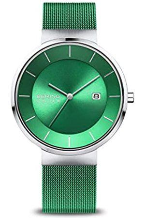 Bering Reloj para Hombres de Energía Solar con Correa en Acero Inoxidable 14639-Charity