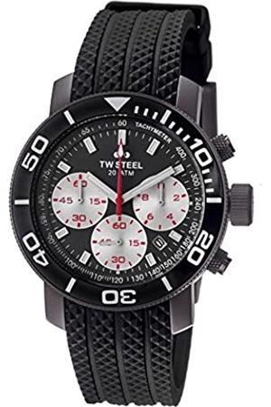 TW steel Reloj cronógrafo para Hombre de Cuarzo con Correa en Caucho TW-704