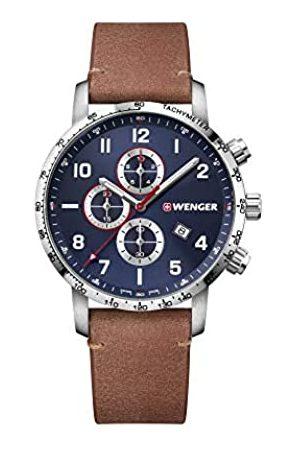 Wenger Hombre Relojes - Hombre Attitude Chronograph - Reloj de Acero Inoxidable de Cuarzo analógico de fabricación Suiza 01.1543.108