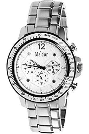 Mador Ma'dor Reloj analogico para Hombre de Cuarzo con Correa en Acero Inoxidable MAM-558