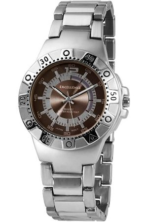 Excellanc Hombre Relojes - 280023000110 - Reloj analógico de caballero de cuarzo con correa de aleación plateada