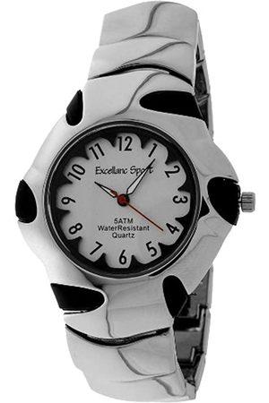 Excellanc 267622500001 - Reloj analógico de caballero de cuarzo con correa de aleación plateada - sumergible a 50 metros