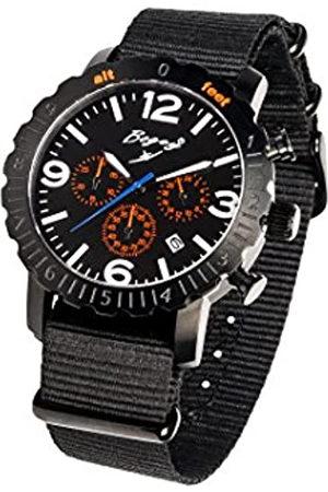 BOGEY Hombre Relojes - RelojCronógrafoparaHombredeCuarzoconCorreaenCauchoBSFS001ORBK