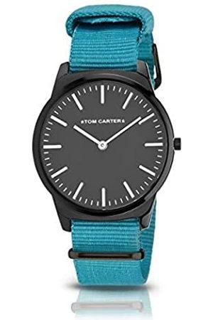 Tom Carter Hombre Relojes - Reloj Analog-Digital para Mens de Automatic con Correa en Cloth S0325080