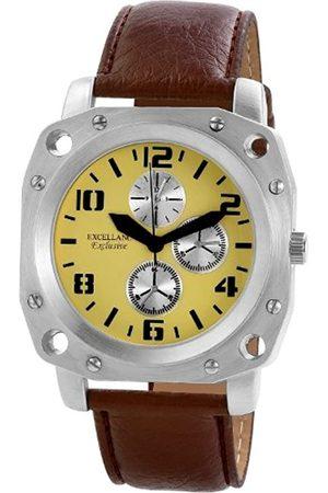 Excellanc 292227500002 - Reloj analógico de caballero de cuarzo con correa de piel