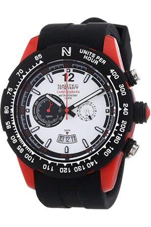 Nautec No Limit Hombre Relojes - ZY2 QZ/RBPCBKWH-RD - Reloj cronógrafo de Cuarzo para Hombre con Correa de Caucho