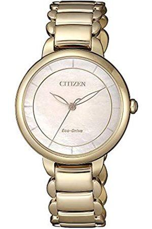 Citizen Reloj Analógico para Mujer de Cuarzo con Correa en Acero Inoxidable EM0673-83D