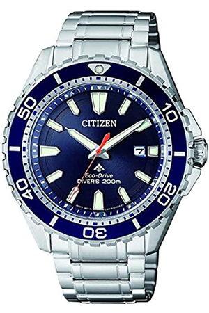 Citizen Hombre Relojes - RelojAnalogicoparaHombredeEnergíaSolarconCorreaenAceroInoxidableBN0191-80L