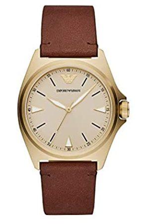 Emporio Armani Reloj Analógico para Hombre de Cuarzo con Correa en Cuero AR11331