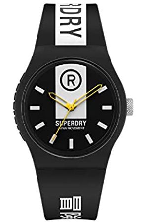 Superdry Hombre Relojes - Reloj Analógico para Hombre de Cuarzo con Correa en Silicona SYG348B