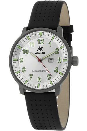 Akzent Hombre Relojes - Reloj para Hombre con Correa de Piel auténtica 322552529001.