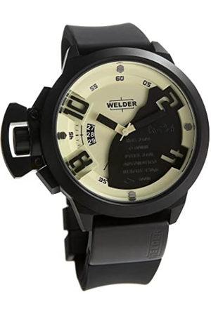 Welders Hombre Relojes - K24 Steel 48Mm - Reloj analógico de caballero de cuarzo con correa de goma negra - sumergible a 100 metros