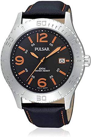 Seiko Pulsar Reloj analogico para Hombre de Cuarzo con Correa en Piel PS9005X1