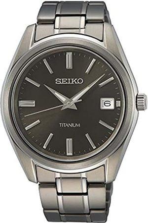 Seiko Hombre Relojes - Reloj Analógico para Hombre de Cuarzo con Correa en Metal SUR375P1