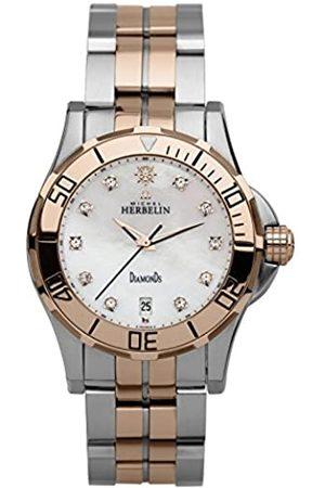 Michel Herbelin Relojes - Reloj Analogico para Unisex de con Correa en Acero Inoxidable 12591/T5R89B