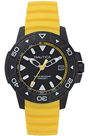 Nautica Reloj analógico para Hombres de Cuarzo japonés con Correa en Silicona NAPEGT004