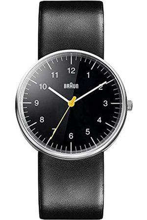 von Braun Hombre Relojes - Reloj Analógico para de los Hombres de Cuarzo con Correa en Cuero BN0021BKBKG