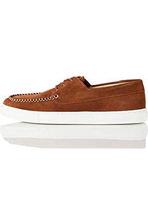 FIND Cupsole Boat Shoe Náuticos, (Brown (Suede)