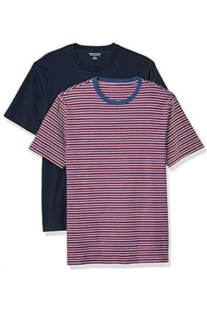 Amazon Hombre Polos - 2-Pack Slim-Fit Crewneck T-Shirt Fashion-t-Shirts, S