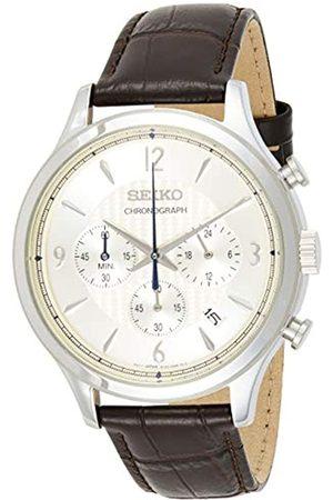Seiko Hombre Relojes - Reloj Analógico para Hombre de Cuarzo con Correa en Piel SSB341P1