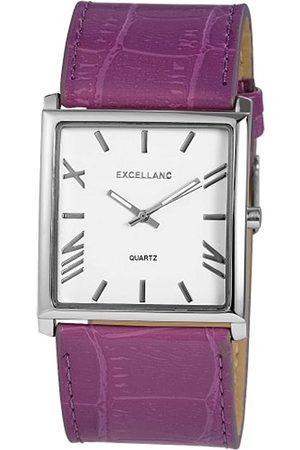 Excellanc Hombre Relojes - 293023800112 - Reloj analógico de caballero de cuarzo con correa de piel lila