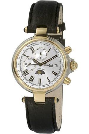 Engelhardt 385712529028 - Reloj analógico de caballero automático con correa de piel negra - sumergible a 50 metros