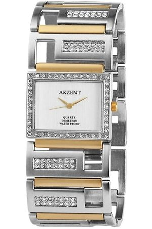 Akzent 185922600003 - Reloj analógico de mujer de cuarzo con correa de aleación - sumergible a 30 metros