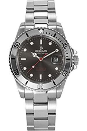 Argonau Relojes - Reloj Analógico para Unisex Adultos de Cuarzo con Correa en Acero Inoxidable AU2002