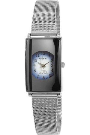 Akzent Mujer Relojes - SS7123000015 - Reloj analógico de mujer de cuarzo con correa de aleación plateada - sumergible a 30 metros